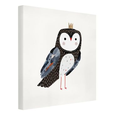 Product picture Canvas Art - Crowned Owl Dark - Square...