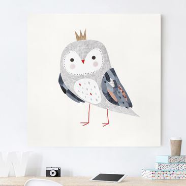 Product picture Canvas Art - Crowned Owl Light - Square...