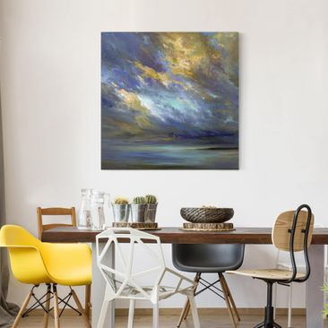 Product picture Canvas Art - Sky Over Coast - Square 1:1
