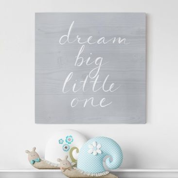 Product picture Canvas Art - Wooden Wall Gray - Dream...