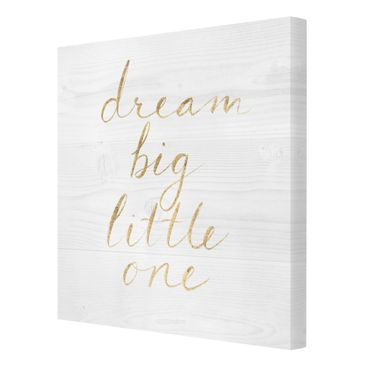 Product picture Canvas Art - Wooden Wall White - Dream...