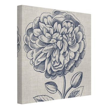 Product picture Canvas Art - Indigo Blossom On Linen III...