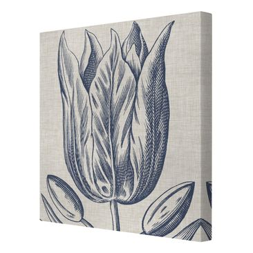Product picture Canvas Art - Indigo Blossom On Linen II...