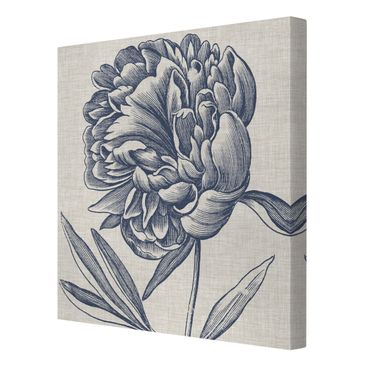 Product picture Canvas Art - Indigo Blossom On Linen I -...