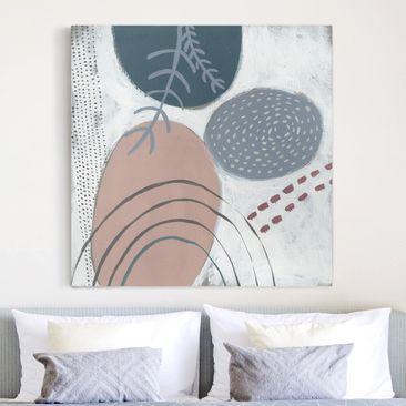 Product picture Canvas Art - Carnival Of Forms In Teal...