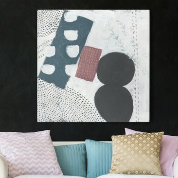 Product picture Canvas Art - Carnival Of Forms In Teal I...