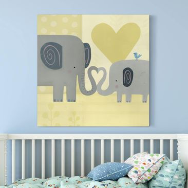 Product picture Canvas Art - Mum And I - Elephants -...