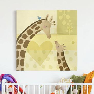 Produktfoto Leinwandbild - Mama und ich - Giraffen - Quadrat 1-1 vergrößerte Ansicht in Wohnambiente Artikelnummer 233249-XWA