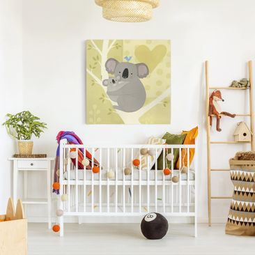 Product picture Canvas Art - Mum And I - Koalas - Square...