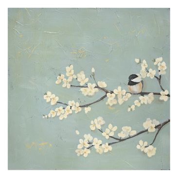 Product picture Canvas Art - Tit On Cherry Limb - Square...