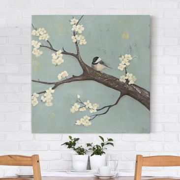 Product picture Canvas Art - Titmouse On Cherry - Square...