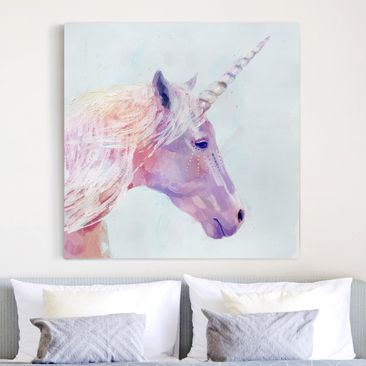 Product picture Canvas Art - Mystic Unicorn I - Square...
