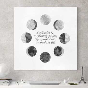 Product picture Canvas Art - Ode To The Moon - Love -...