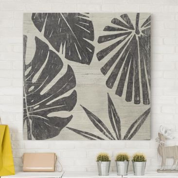 Product picture Canvas Art - Palm Leaves In Front Of...
