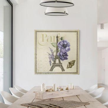 Product picture Canvas Art - Paris Collage Eiffel Tower...
