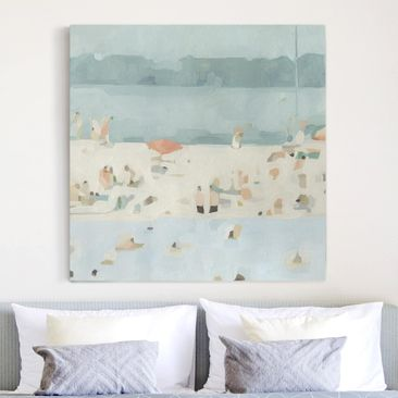Product picture Canvas Art - Sandbank In The Sea II -...