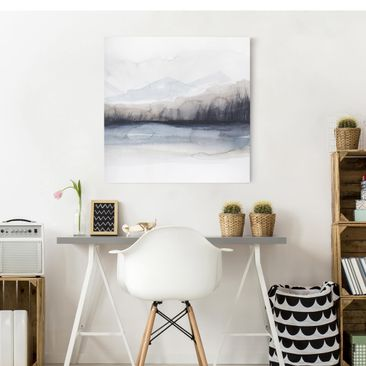 Product picture Canvas Art - Lakeside With Mountains I -...