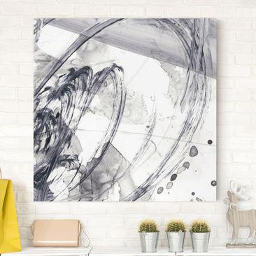 Produktfoto Leinwandbild - Sonar Schwarz Weiß I - Quadrat 1-1 vergrößerte Ansicht in Wohnambiente Artikelnummer 233294-XWA