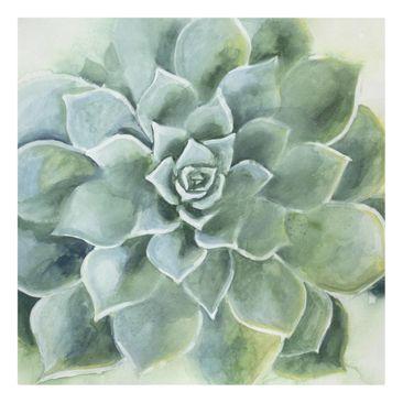 Product picture Canvas Art - Succulent Watercolor Dark -...