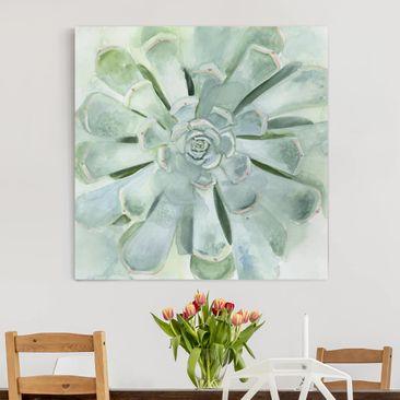 Product picture Canvas Art - Succulent Watercolor Bright...