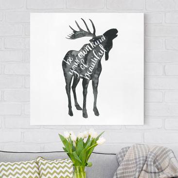 Immagine del prodotto Stampa su tela - Animals With Wisdom - Elk - Quadrato 1:1
