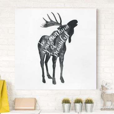 Product picture Canvas Art - Animals With Wisdom - Elk -...