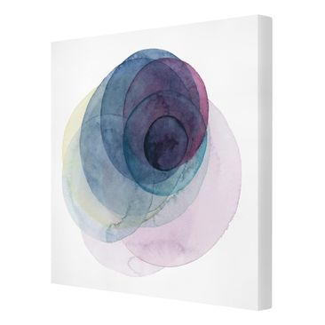 Product picture Canvas Art - Big Bang - Purple - Square...