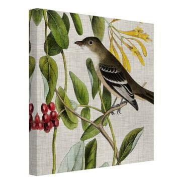 Product picture Canvas Art - Bird On Linen Yellow II -...