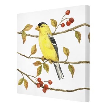 Product picture Canvas Art - Birds And Berries -...