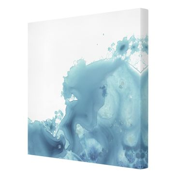 Product picture Canvas Art - Wave Watercolor Turquoise...