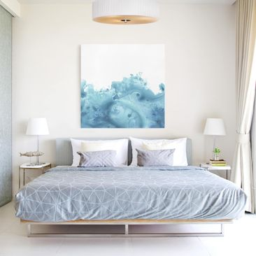 Product picture Canvas Art - Wave Watercolor Turquoise I...
