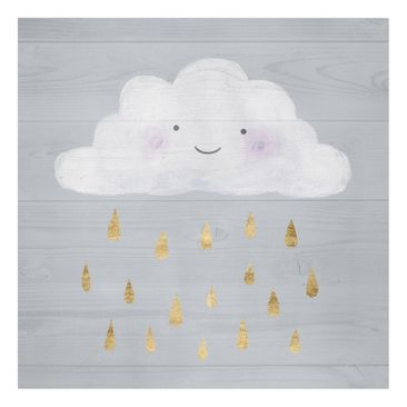 Product picture Canvas Art - Cloud With Golden Raindrops...