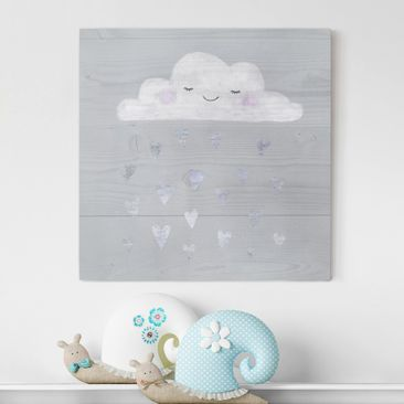 Produktfoto Canvas Art - Cloud With Silver Hearts -...