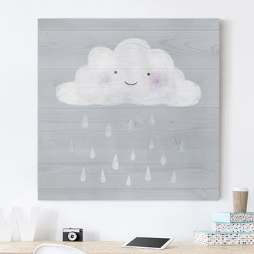 Product picture Canvas Art - Cloud With Silver Raindrops...