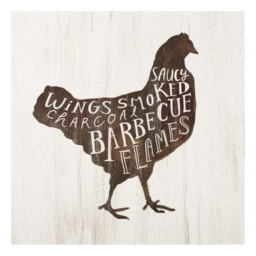 Product picture Print on Glass - Farm BBQ - Chicken -...