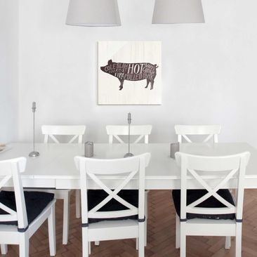 Product picture Print on Glass - Farm BBQ - Pig - Glass...