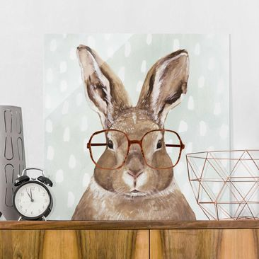 Product picture Print on Glass - Animals With Glasses -...