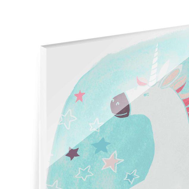 Produktfoto Glasbild - Einhorn-Truppe - Wish - Quadrat 1:1