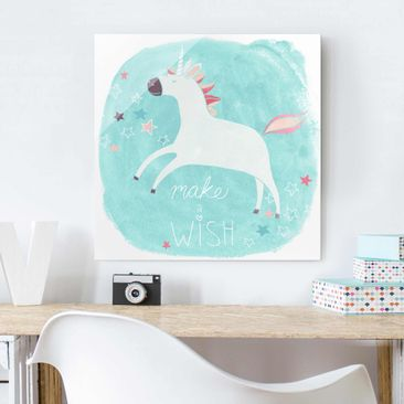 Product picture Print on Glass - Unicorn Troop - Wish -...