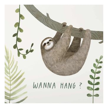 Product picture Print on Glass - Sloth Sayings - Hang -...