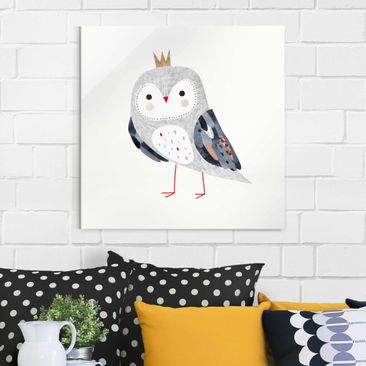 Product picture Print on Glass - Crowned Owl Light -...