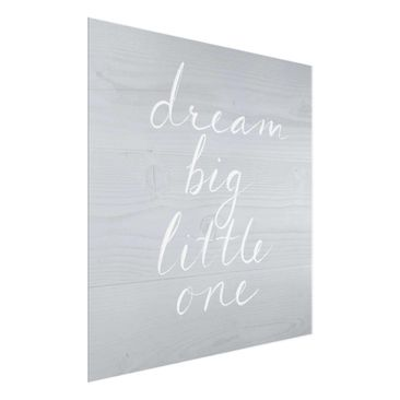Product picture Print on Glass - Wooden Wall Gray -...