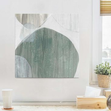 Product picture Print on Glass - Jade I - Glass Wall Art...