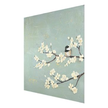 Product picture Print on Glass - Tit On Cherry Limb -...