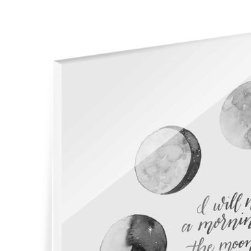 Product picture Print on Glass - Ode To The Moon - Love...