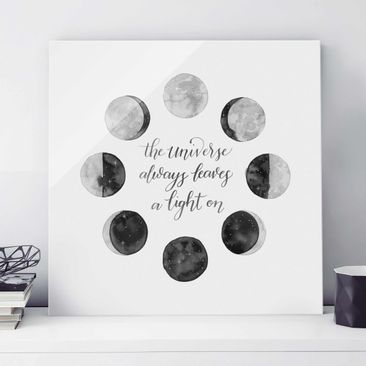 Product picture Print on Glass - Ode To The Moon -...