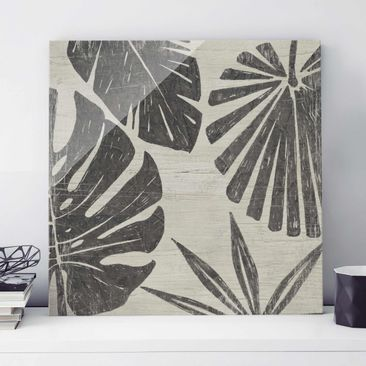 Product picture Print on Glass - Palm Leaves In Front Of...