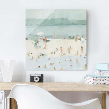 Product picture Print on Glass - Sandbank In The Sea I -...