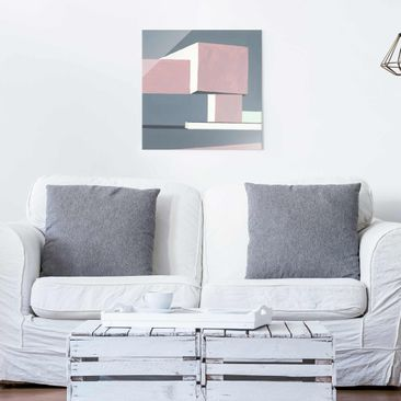 Product picture Print on Glass - Shadow Of The Walls I -...