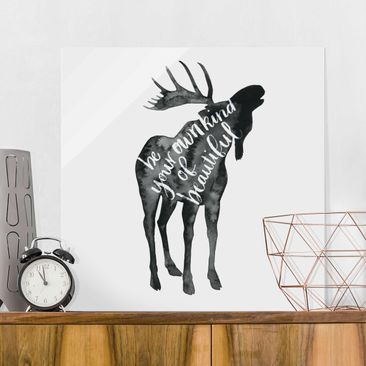 Product picture Print on Glass - Animals With Wisdom -...